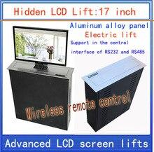 Lifter LCD  escondido  Monitor Elevadores  elevador suporte  LCD elevador elétrico  movimentos  17-inch elevador de controle remoto sem fio