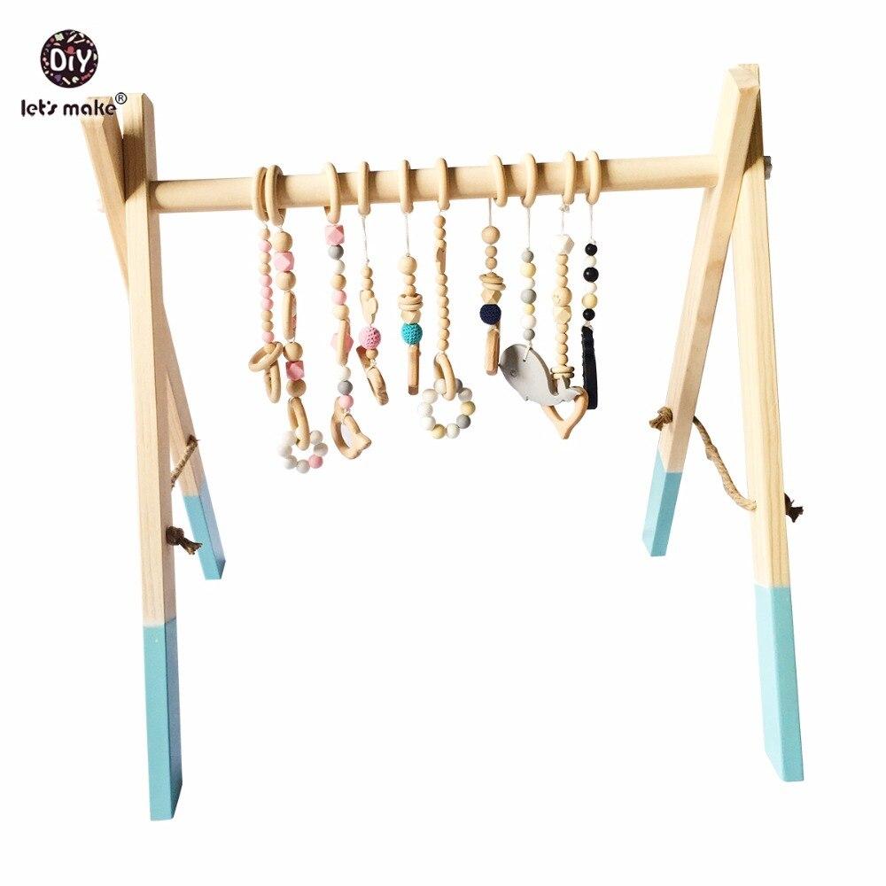 Давайте сделаем классический деревянный детский тренажерный зал без спортивные игрушки активности Игрушка аксессуары Монтессори Погрему...