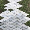 Fan shaped cement concrete wall brick silicone rubber mold background wall brick decorative concrete maple leaf design