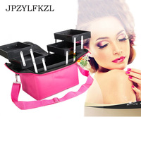 High Quality Professional Empty Makeup Organizer Bolso Mujer Cosmetic Case Travel Large Capacity Storage Bag Suitcases Organizer