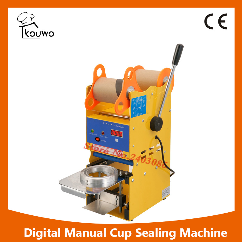 KW-F02S ce approved digital manual fruit juice food plastic cup sealer sealing packing machine for beverage kw f01s commercial use digital manual fruit juice food plastic cup sealing packing machine for beverage
