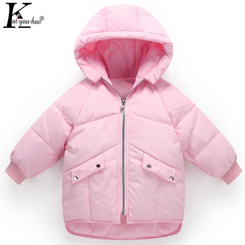 14cdf7dcd0c6 2018 Winter Girls Coats High Quality Boys Jacket Hooded Kids Outerwear  Clothing Baby Boy Coat Children
