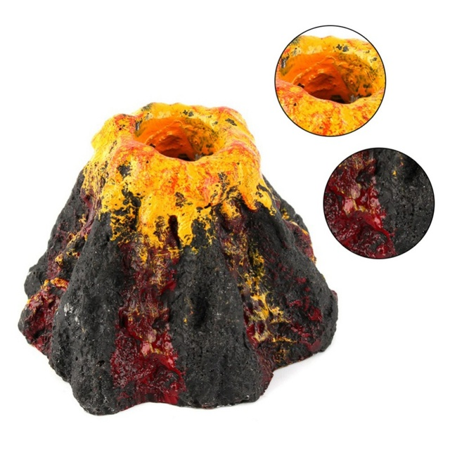 Novelty Ornament Volcano Shape Ornament For Aquarium Air Bubble Stone Fish Tank Oxygen Pump Air Pump Fish Tank Toys sz