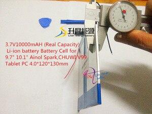"""Image 4 - 3.7 V 10000 mAH (実容量) リチウムイオン電池セルのための 9.7 """"10.1"""" Ainol スパーク、 CHUWI V99 タブレット PC 4.0*120*130 ミリメートル"""