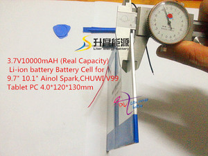 "Image 4 - 3.7V 10000mAH (Real Capacity) Li ion battery Battery Cell for 9.7"" 10.1"" Ainol Spark,CHUWI V99 Tablet PC 4.0*120*130mm"