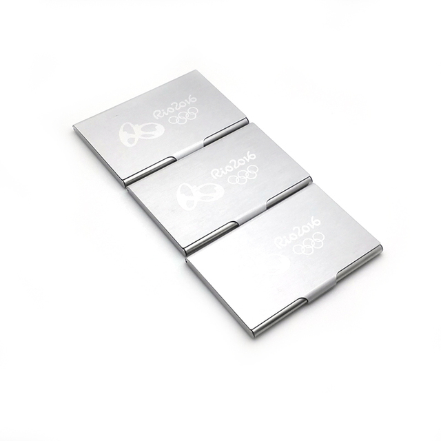 2018 new menwomens business card stock stainless steel name id 2018 new menwomens business card stock stainless steel name id card metal holder 10pcslot reheart Images