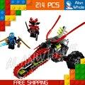 Bela 9792 ninja samurai warrior bicicleta montado bloques de construcción de aviones educación compatible con lego
