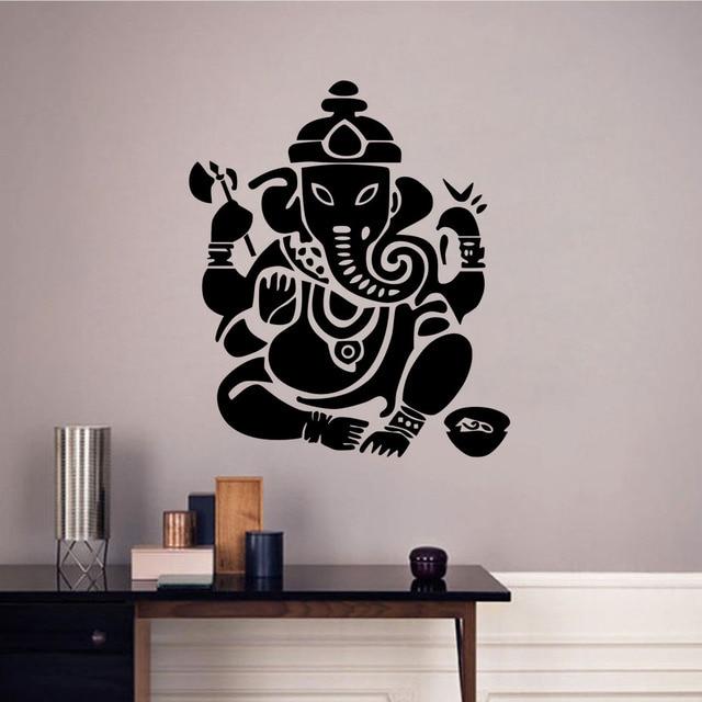 ganesha lord wall stickers indian elephant modern home decor