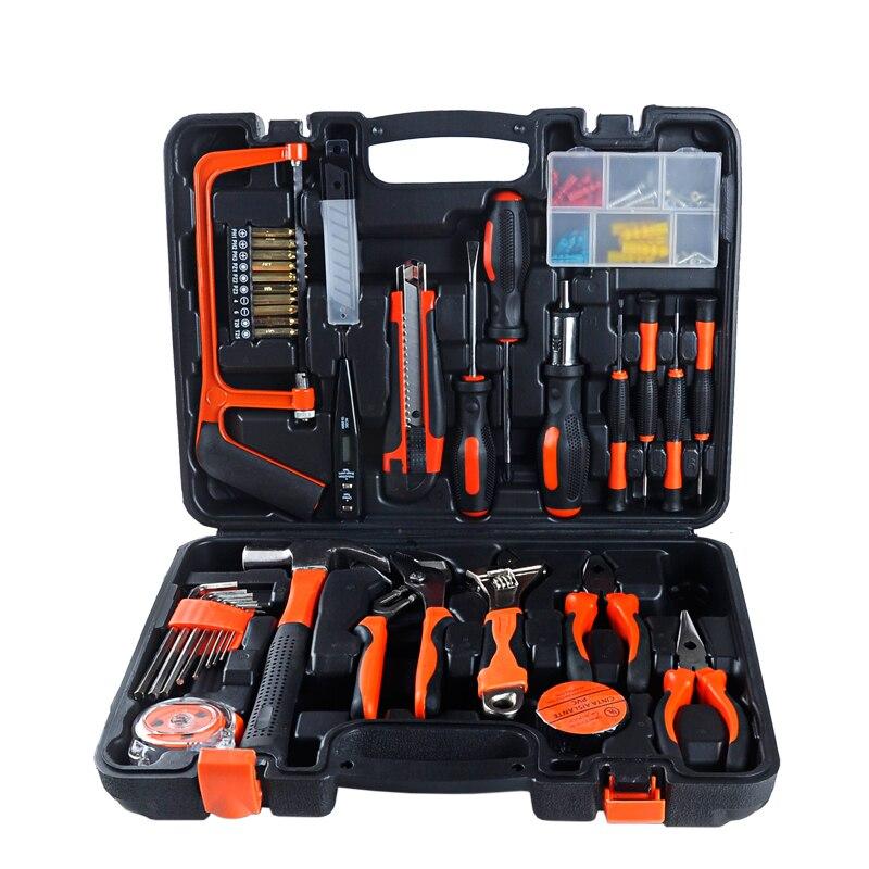 buitiniai 100 vnt kombinuoti įrankiai daugiafunkcinė aparatūra įrankių dėžė namo apdaila elektrikas dailidės remonto rankinių įrankių rinkinys