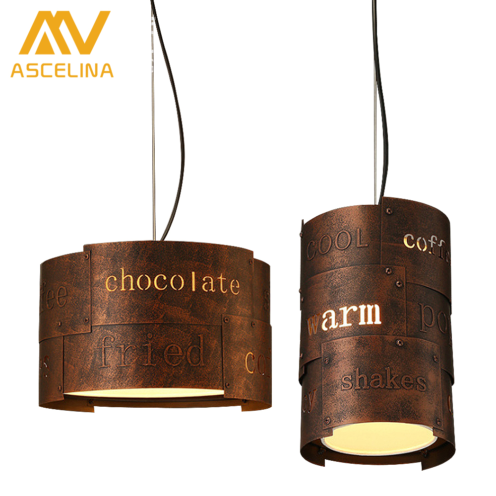 Loft Retro Vintage Pendant Lights Industrial Lustres Hollow English letter lamp iron Bar Cafe suspension luminaire Home Lighting rustic metal cage loft industrial pendant lamp cafe bar retro vintage light hanging lights fixtures lampara suspension luminaire