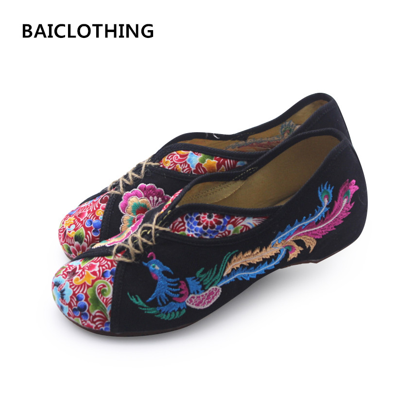 BAICLOTHING women plus size casual canvas embroider flat shoes sapatos femininos lady cute floral print flats female retro shoes baiclothing women casual pointed toe flat shoes lady cool spring pu leather flats female white office shoes sapatos femininos