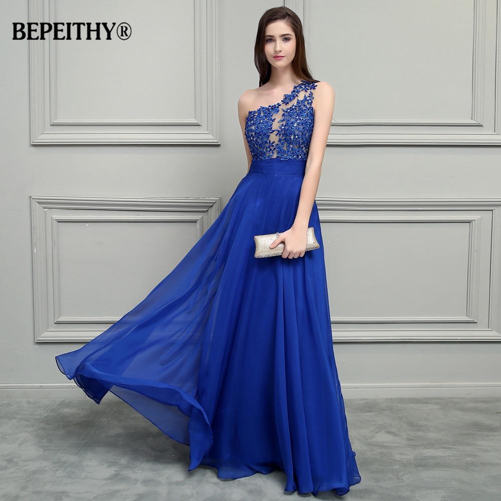 Aliexpress.com : Buy BEPEITHY Royal Blue Chiffon Long Prom ...