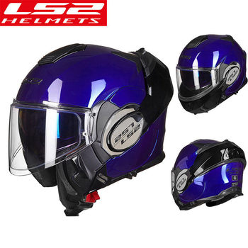 LS2 FF399 Valiant moto cycle casco Flip Up hombre mujer moto cross casco moto con antiniebla Pinlock capaciete de moto bicicleta