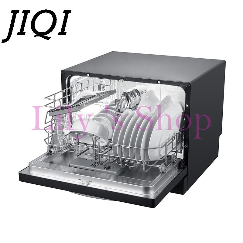 JIQI Household automatic dishwasher intelligent embedded smart small mini desktop bowls dishes washing machine 220V-240V EU US
