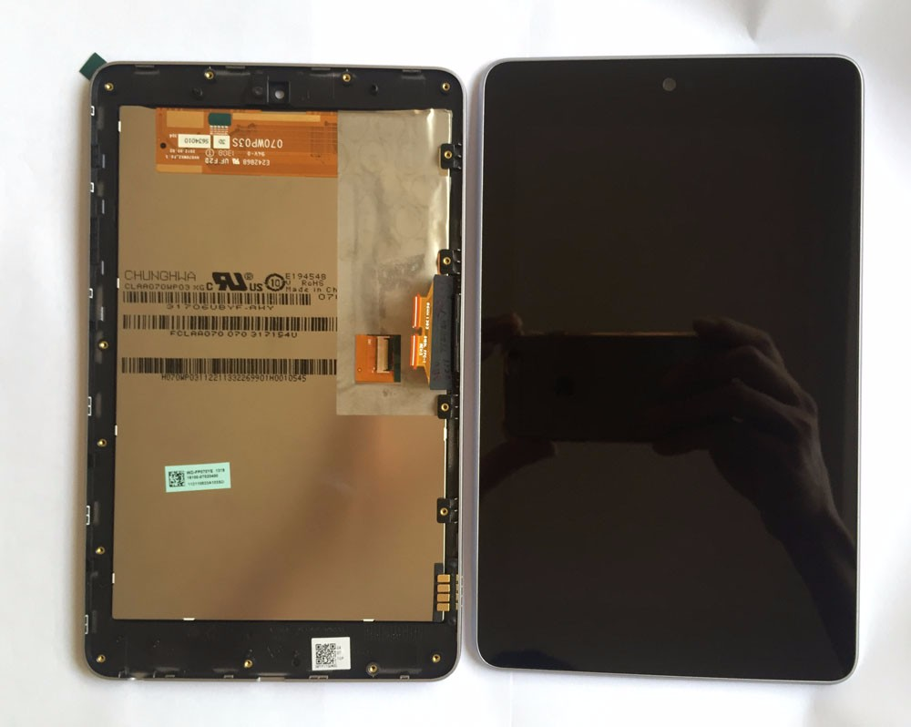 high quality LCD display+Touch Digitizer Screen with frame Assembly for ASUS Google Nexus 7 nexus7 2012 ME370T wifi version 7 inch for asus me173x me173 lcd display touch screen with digitizer assembly complete free shipping