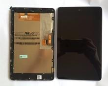Pantalla LCD de alta calidad + Pantalla Táctil Digitalizador Asamblea con marco para ASUS Google Nexus 7 nexus7 2012 ME370T pantalla wifi versión