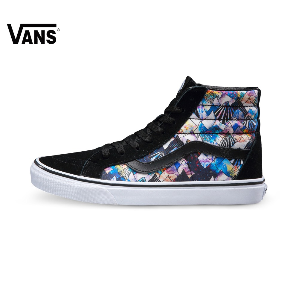 Original Vans Black and Colourful women's Skateboarding Shoes Sports Shoes Sneakers VN0A2XSBM0R original vans white color women skateboarding shoes sneakers beach shoes canvas shoes outdoor sports comfortable breathable