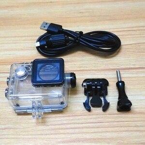 Image 5 - Akcesoria do aparatu wodoodporna obudowa ładowarka shell kabel USB do SJCAM SJ4000 powietrza Sj9000 C30 C30R EKEN H9R dla motocykli Clownfish