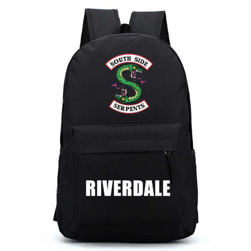Riverdale Women Backpack Solid Schoolbag Backpack Male Solid Schoolbag Laptop Men 2018