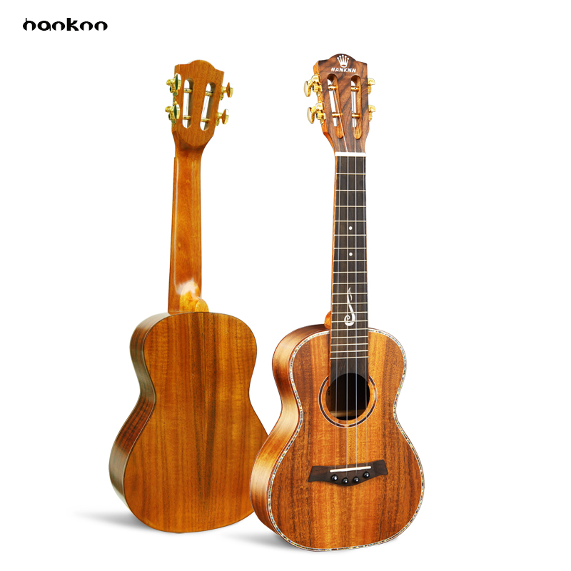 Free shipping 23 solid KOA top concert Ukulele Acoustic Guitar Hawaii guitar Music instrument uke handcraft guitarra ukelele concert acoustic electric ukulele 23 inch high quality guitar 4 strings ukelele guitarra handcraft wood zebra plug in uke tuner