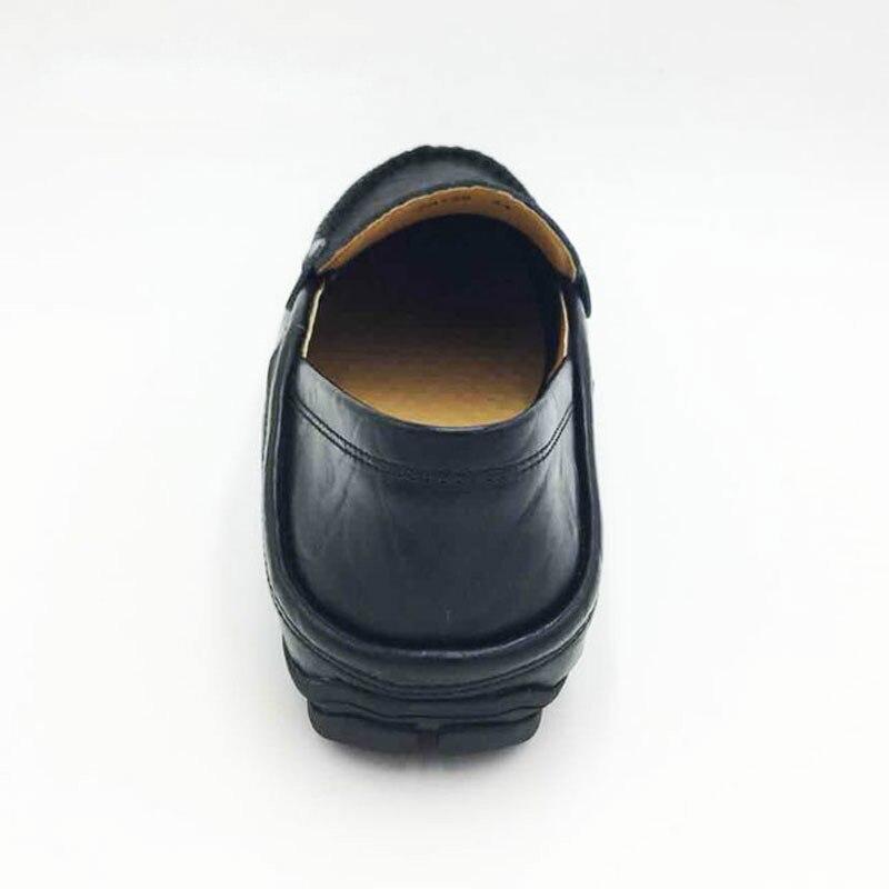 Hombres Mocasines Masculino Cuero Plano Tamaño De Homme Genuino 47 Zapatos Los black blue Yellow Chaussure Clásica Deslizamiento Diseño redbrown Barco 37 FqvEx4Xw