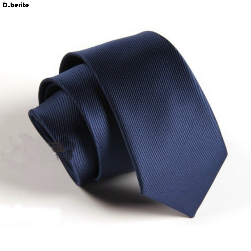 Men Navy Blue Solid Tie Buisness Slim Skinny Neck Tie Classical Groom Neckties Business Necktie For Wedding Party SK602