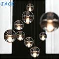 G4 LED Crystal Glass Ball Pendant Lamp Meteor Rain Meteoric Shower Stair Bar Droplight Chandelier Lighting AC110-240V