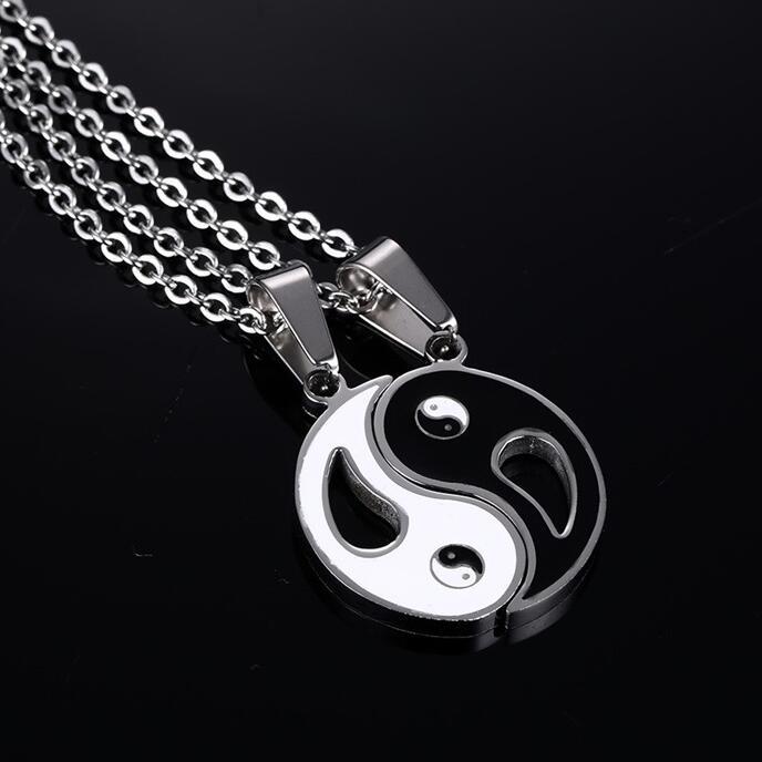 Neue Chinesische Mystische Yin Yang Anhänger Halskette edelstahl - Modeschmuck - Foto 5