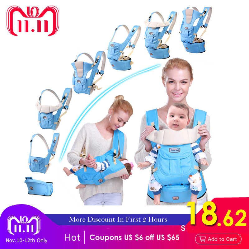 2018 Adjustable Baby Carrier sling Breathable baby kangaroo hipseat backpacks & carriers Multifunction removeable backpack sling