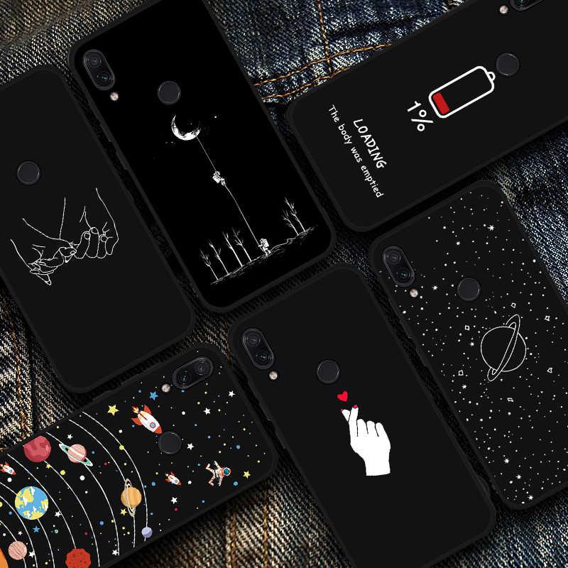 Starry night TPU โทรศัพท์กรณีสำหรับ Redmi Go 4X5 Plus 6 Pro 5A 6A S2 หมายเหตุ 7 พื้นที่ลายซิลิโคนสำหรับ Redmi หมายเหตุ 5 6 Pro