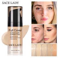 SACE DAME Gesicht Concealer Creme Volle Abdeckung Make-Up Flüssigkeit Gesichts Corrector Wasserdichte Basis Machen Up für Augen Dunkle Augenringe Kosmetische