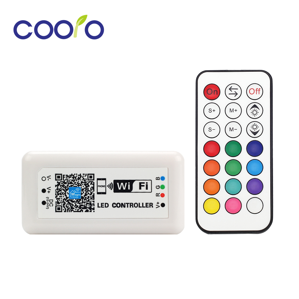 DC12-24V 12A LED RGB Controller MINI WIFI LED Controller Smart RGB Dimmer IOS Android Phone APP Wireless Remote Control mini wifi 01 smart wireless 3 ch wi fi ios android phone controlled rgb light strip controller