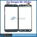 """De calidad superior 5.5 """"para doogee x6 x6 pro pantalla táctil del sensor del panel digitalizador de vidrio frontal de color negro"""