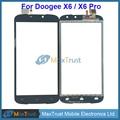 """Top quality 5.5 """"para doogee x6 x6 pro digitador da tela de toque do painel de vidro frontal sensor de cor preta"""