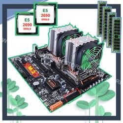 HUANANZHI المزدوج X79 اللوحة مع M.2 فتحة ثنائي LAN ميناء خصم اللوحة مع المزدوج وحدة المعالجة المركزية Xeon E5 2690 2.9GHz RAM 64G (4*16G)