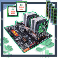 HUANANZHI double carte mère X79 avec emplacement M.2 double port LAN carte mère avec double CPU Xeon E5 2690 2.9GHz RAM 64G (4*16G)
