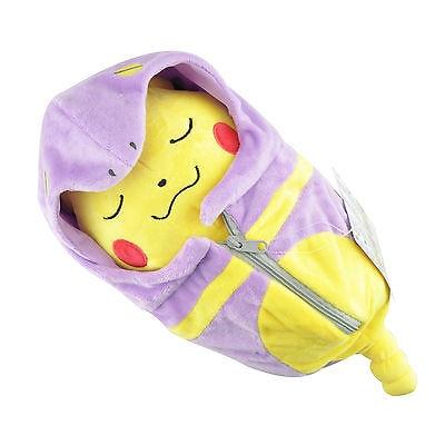Pokemon Center Ekans Uyku Tulumu içinde Yakın Gözler 8in Pikachu Peluş Bebek Oyuncak Kawaii Çocuklar Çocuklar Için Oyuncaklar Dolması Bebekler