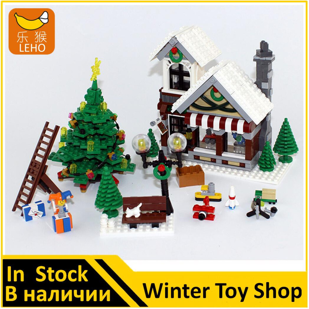 Building Blocks Model 36002 Compatible With The Winter Toy Lego 10249 Exclusive Shop Toys For Children In From Hobbies On