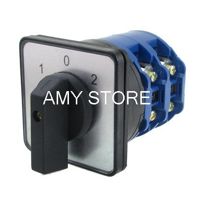Ui 660V Ith 63A on-off-on 8 Screw Terminals Rotary Cam Changeover Switch