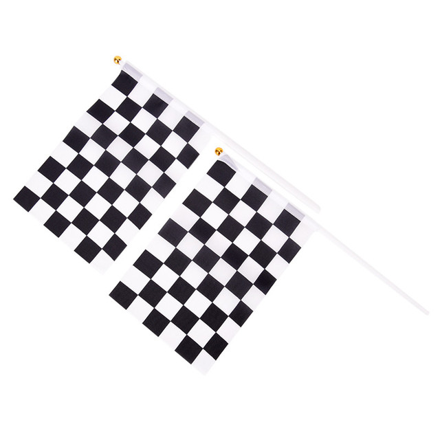 8bc6527bb High Quality And Inexpensive 5 Pcs/Lot Black and White Chequered F1 Racing  Flag Checkered Flag Hand Signal Flags-in Flags, Banners & Accessories from  Home ...
