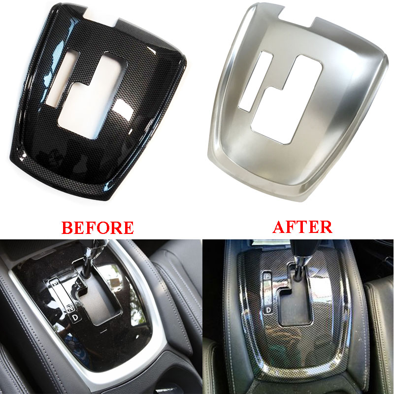 Car Styling Gear Shift Knob Sticker Panel Frame Trim Cover Interior Decorative for Nissan X-trail T32 X trail Rogue 2014-2018 for nissan armada patrol royale qx56 qx80 y62 2016 2018 gear shift trim water cup holder panel cover styling sticker lhd 3pcs