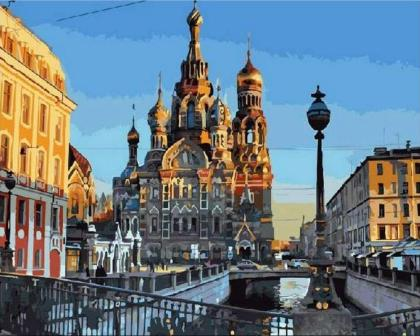 St. Petersburg city Pictures By Numbers On Canvas DIY Elegant Digital Oil Painting Coloring By Numbers Home Decor Art Gift-in Painting & Calligraphy from Home & Garden on AliExpress - 11.11_Double 11_Singles' Day 1