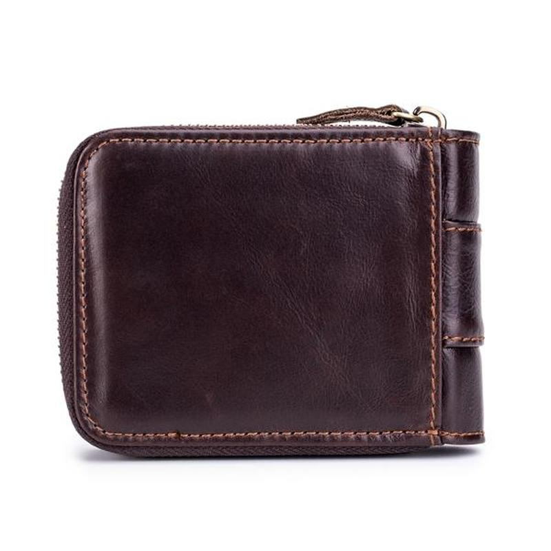 LAOSHIZI LUOSEN Vintage RFID Antimagnetic Genuine Cow Leather purse 13 Card Slots Coin Bag Trifold brand Wallet For Men in Wallets from Luggage Bags
