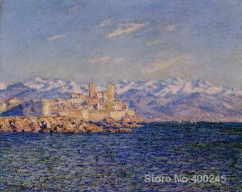 Canvas paintings Antibes afternoon effect Claude Monet Art reproduction High quality Hand painted