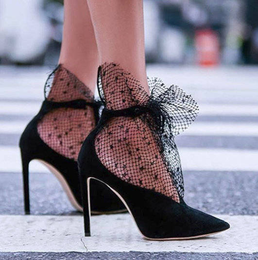 MONMOIRA Elegant Lace Wedding Shoes Women Sexy Pointed Toe High Heels Women Stiletto Luxury Crystal Women