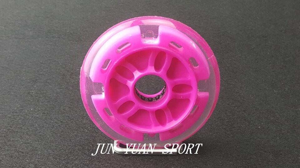 Купить с кэшбэком High quality!4Pieces/lot 90mm LED Flash Inline Speed Racing Speed Skating Wheel for Street Brushing Cool Light,Free shipping