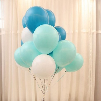 balloons 10inch=25cm dark light blue for Gift Craft Birthday Wedding Party baby shower favor Decoration DIY Wh image