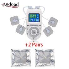 12 режимов Tens электроestimulador Tens машинная установка массажер для тела облегчение боли EMS стимуляция мышц с 2 парами электродных подушечек