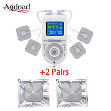 12 Modes Tens Electroestimulador Tens Machine Unit Body Massager Pain Relief EMS Muscle Stimulation with 2 Pairs Electrode Pads недорго, оригинальная цена