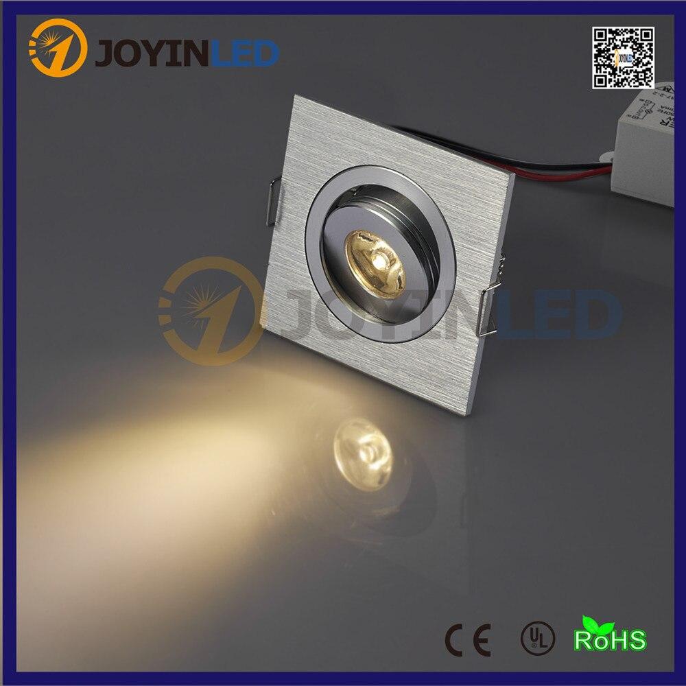 Высокая мощность LED 1 Вт 3 Вт потолочные встраиваемые светодиодные светильники квадратный гостиной спальня кабинет светодиодные светильник...